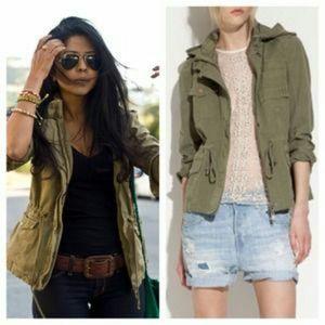Zara basic army green utility jacket size medium